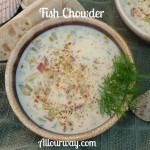 Sheepshead Fish Chowder made with Dill at allourway.com