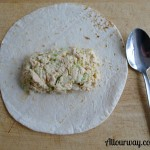 tutorial, tuna, flour tortilla, wrap