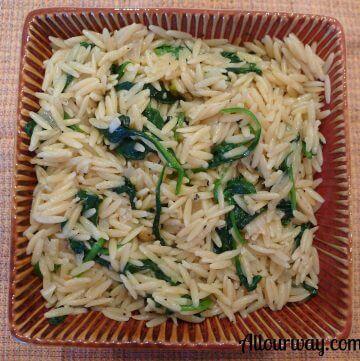 lemon, spinach,orzo, pasta, easy, quick, like risotto