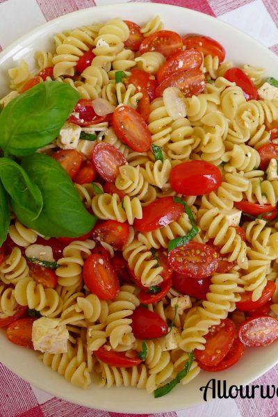 rotini, lemon, grape tomatoes, Ricotta Salata