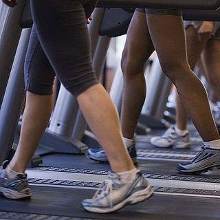 running feet, treadmill