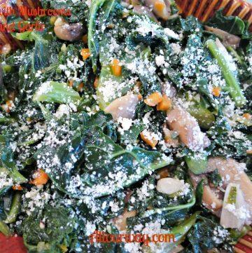 kale, mushrooms, garlic, cavolo nero, funghi, aglio, Tuscan Kale, soffritto, lemon