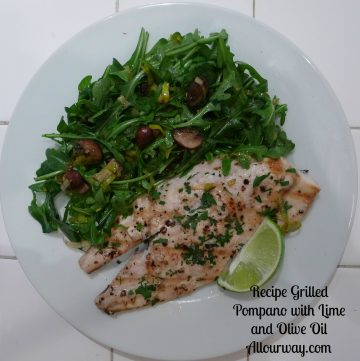 pompano, olive oil, lime, fast, easy, healthy, mild