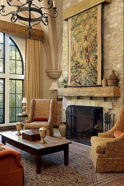 Tuscan, Living room, BHG