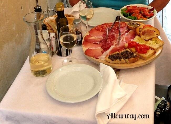 antipasto, salad, Orvieto, Italy
