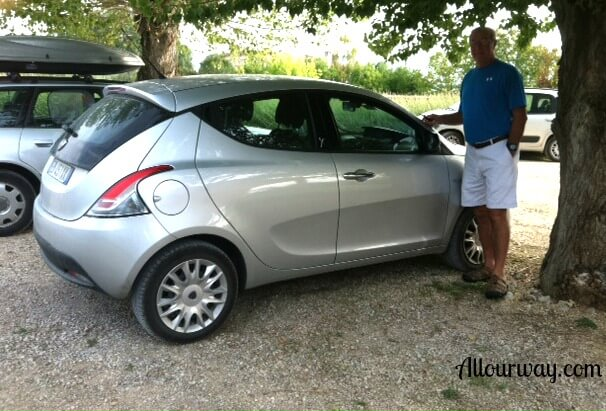 Rental, car, Italy, Todi