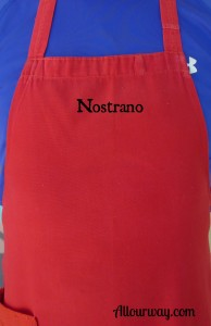 red, apron, nostrano, ours