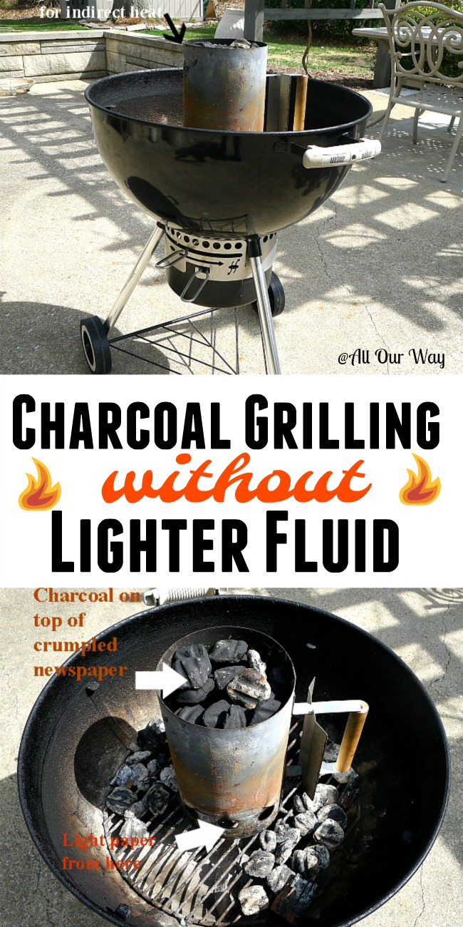 Charcoal Grilling without Lighter fluid an all natural approach.