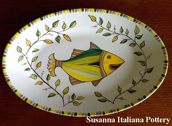 Majolica, Fish, Serving Dish