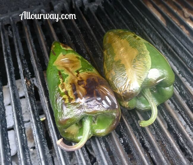 Roasted Poblano Peppers at allourway.com