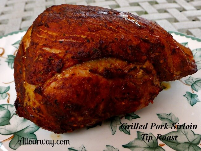 Grilled Pork Sirloin Tip Roast from Costco Resting at allourway.com
