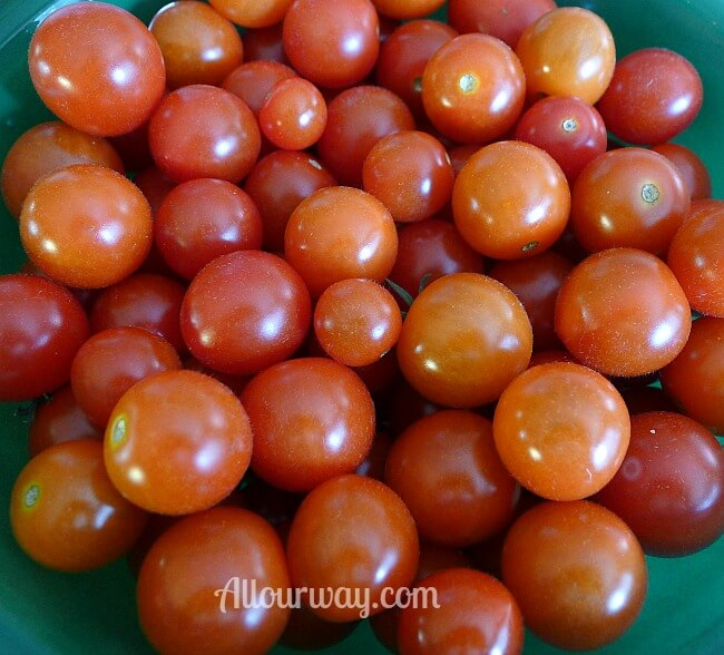 Cherry Tomatoes from Our Garden at allourway.com