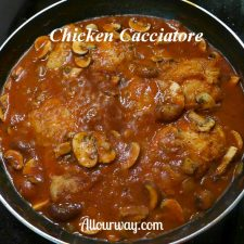 Chicken Cacciatore with Onions and Mushrooms @ Allourway.com
