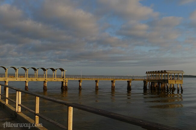 Jekyll Island Pier Early Morning - East View at Allourway.com