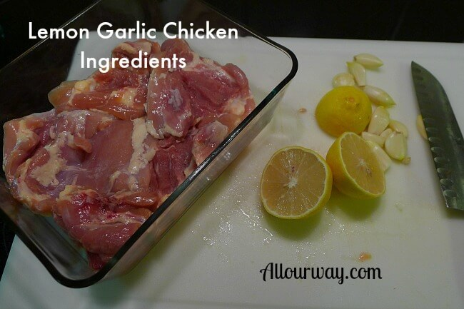 Lemon Garlic Chicken Ingredients at Allourway.com