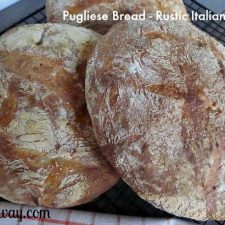 Pugliese bread is a rustic Italian bread similar to ciabatta @allourway.com