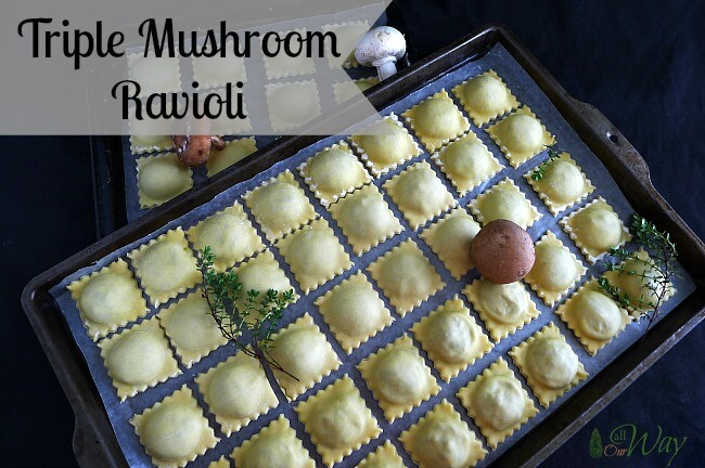 Triple Mushroom Ravioli with Ricotta and Parmesan Cheese @allourway.com
