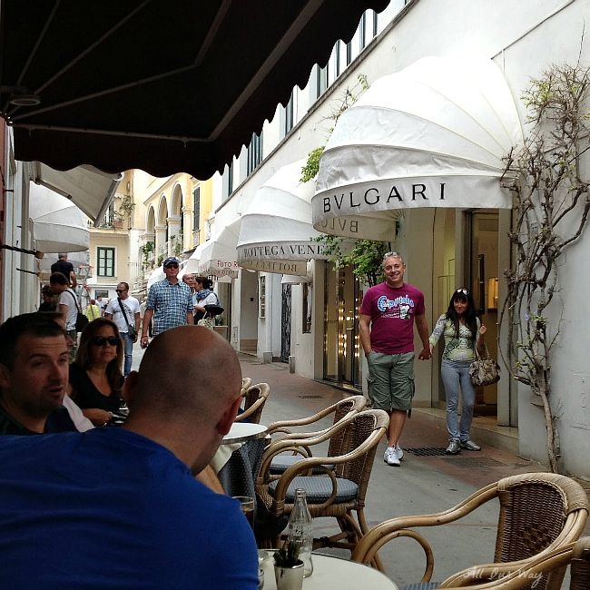Capri is filled with small restaurants up and down the streets and alleys @allourway.com
