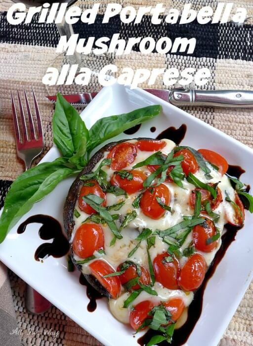 Grilled portabella mushroom alla cappers ready to enjoy