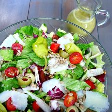 Italian Summer Salad with Basil Dressing and Roasted Sunflower Seeds @allourway.com