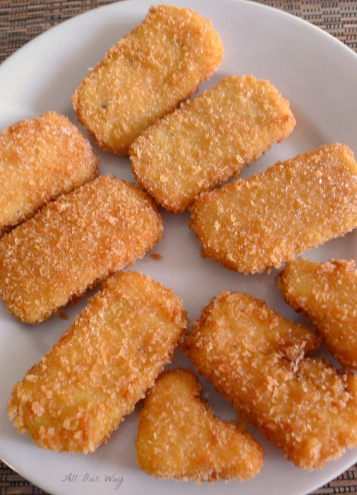 Fried Polenta Appetizers with Crunchy Coat of Panko crumbs @allourway.com