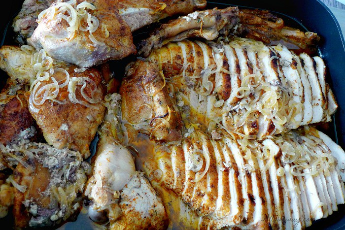 An Exceptional Thanksgiving Menu with a Turkey that is first brined, then boned and finally roasted for a deliciously moist turkey @allourway.com