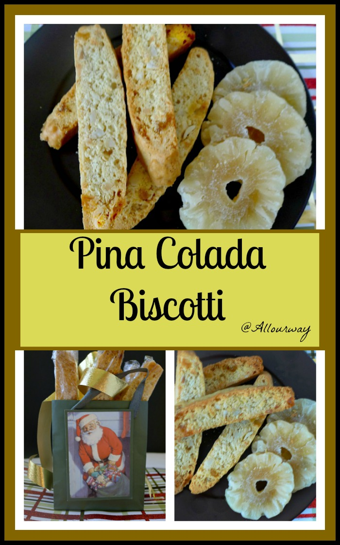 Piña Colada Biscotti with a tropical flavor makes a great gift @allourway.com