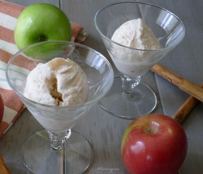 Caramel Apple Pie No-Churn Ice Cream made with Apple Pie Filling @allourway.com