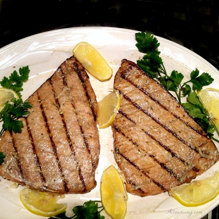 Grilled Marinated Swordfish Italian Style with Fresh Herbs @allourway.com