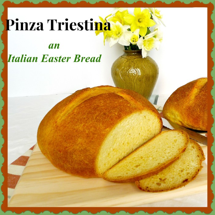 Pinza triestina is an orange flavored brioche type Italian bread. It is usually served at Easter but it is perfect anytime of year @allourway.com