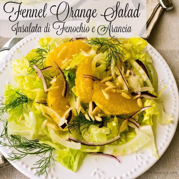 Fennel Orange Salad with aromatic fennel, sweet orange segments, slivered purple onion, crunchy romaine and dressed with a sweet citrus vinaigrette. @allourway.com