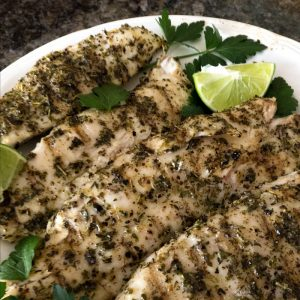 Grilled Lime Herb Fish With Truffle Oil first seasons the fillets with Italian herb seasoning blend, salt and pepper and after it is grilled the fillets are splashed with fresh squeezed lime juice then drizzled with truffle oil @allourway.com