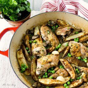 Chicken Vesuvio with Mushrooms @allourway.com