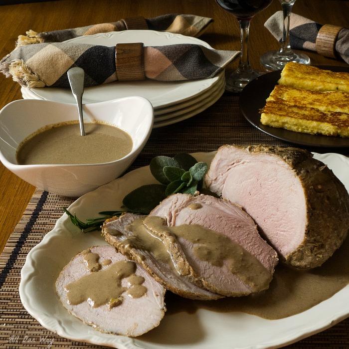 Italian Pork Roast Braised with Fresh Herbs @allourway.com