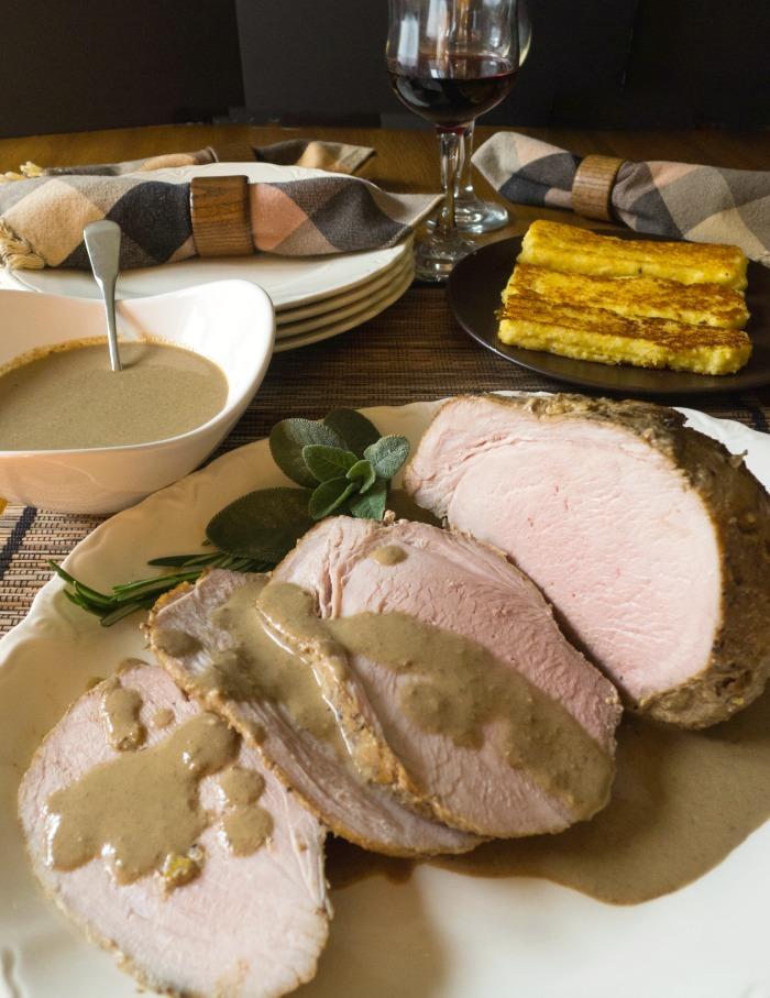 Italian Roast Pork Braised in Milk with Fresh Herbs @allourway.com