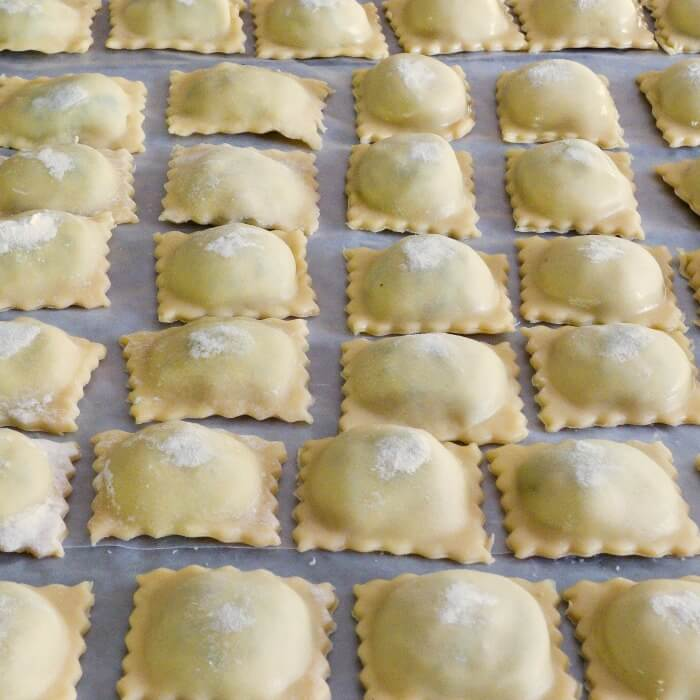 Spinach Ricotta Beef Ravioli Filling is delicious and cheesy and it can be used as a filling with other pasta @allourway.com