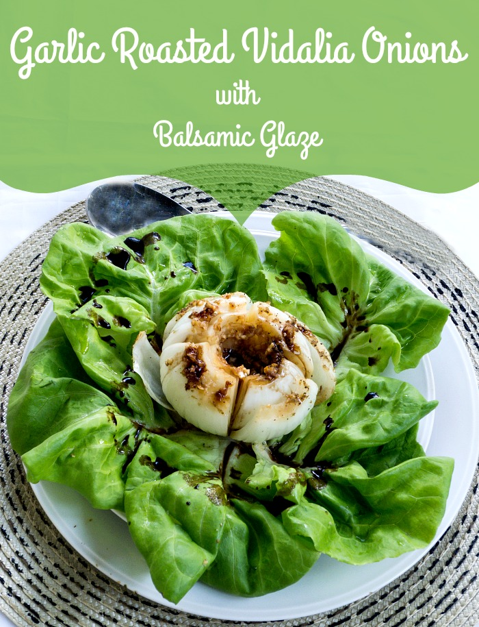 Garlic Roasted Vidalia Onions with Balsamic Glaze is delicious and good for you too @allourway.com