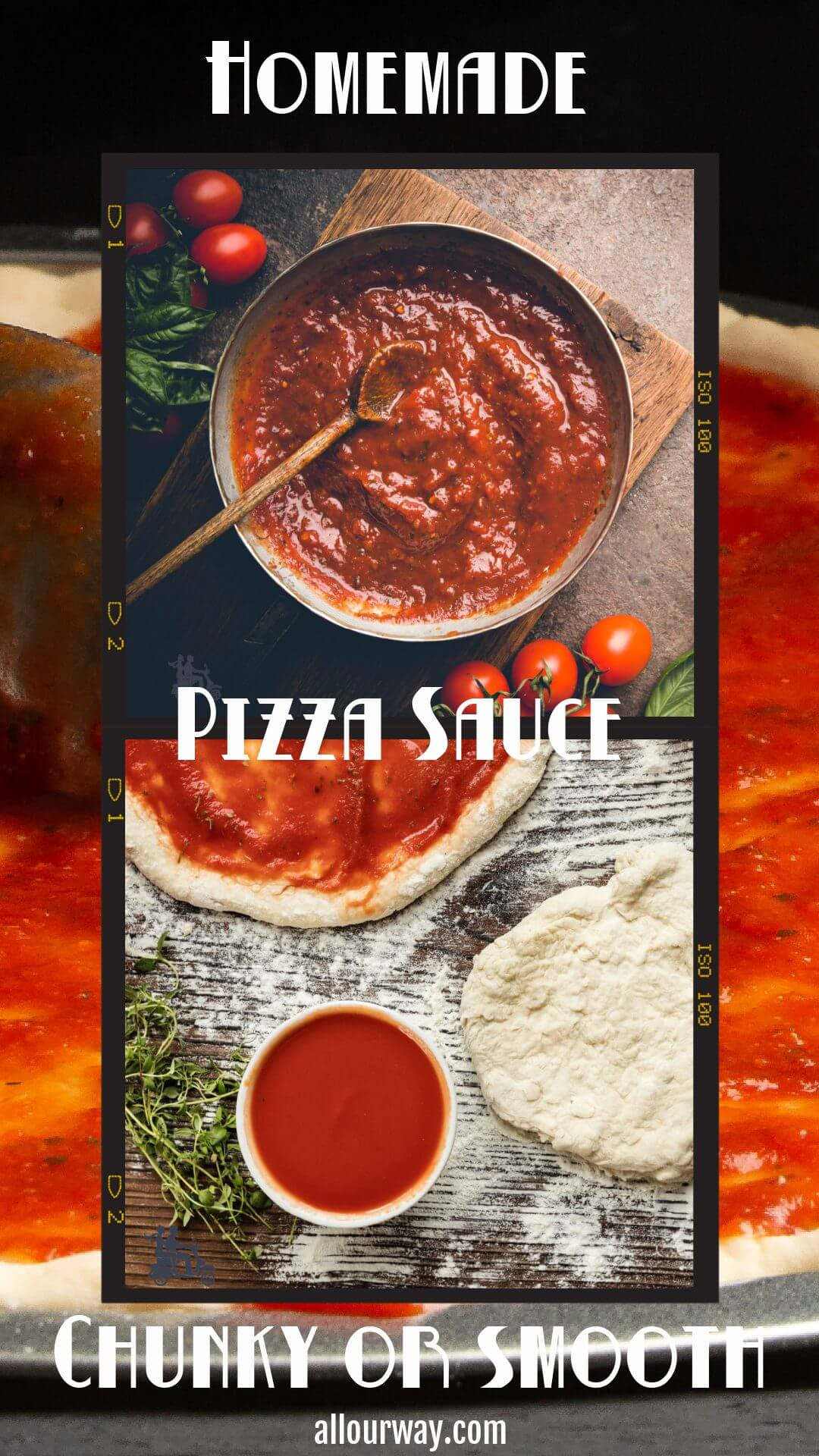 A rich thick pizza sauce that is easy to make, uses quality ingredients and is full of tomato and fresh herb flavor. This homemade sauce is from scratch from high grade tomatoes. This is a winning recipe that will be a favorite with your family. The recipe is quick and easy with pantry ingredients. #pizzasauce #pizzasaucefromscratch #homemadepizzasauce