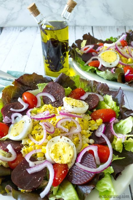 Unbeatable Beet Salad with Hickory Balsamic Vinaigrette @allourway.com