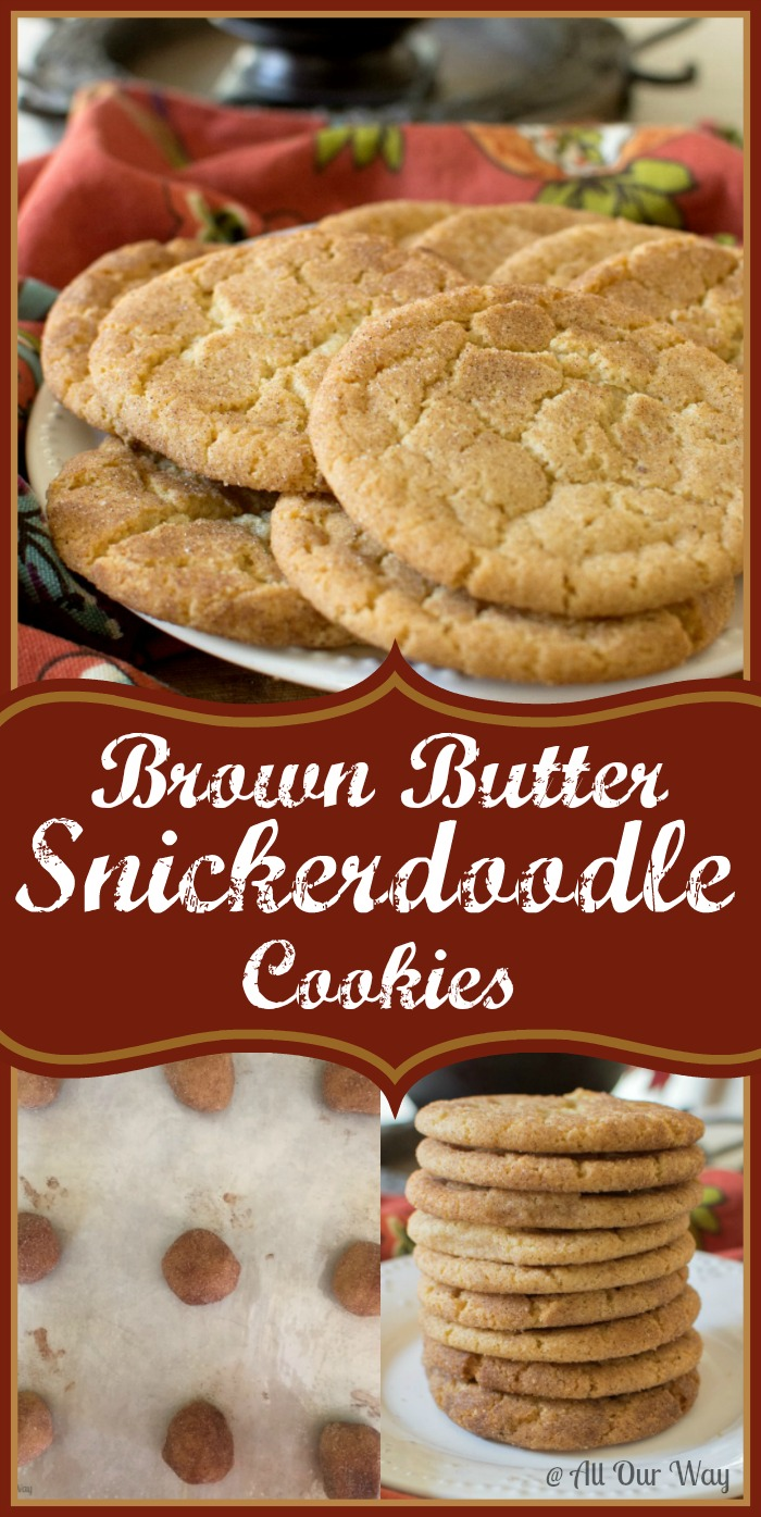 Brown Butter Snickerdoodle Cookies takes a traditional recipe and turns it into gourmet @ Allourway.com