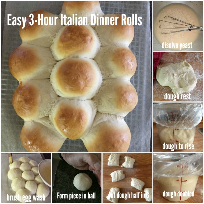 Easy 3-Hour Italian Dinner Rolls Instructions @allourway.com