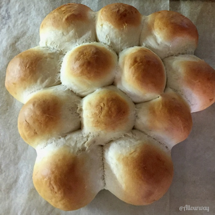 Easy 3-Hour Italian Dinner Rolls on Baking Sheet @allourway.com