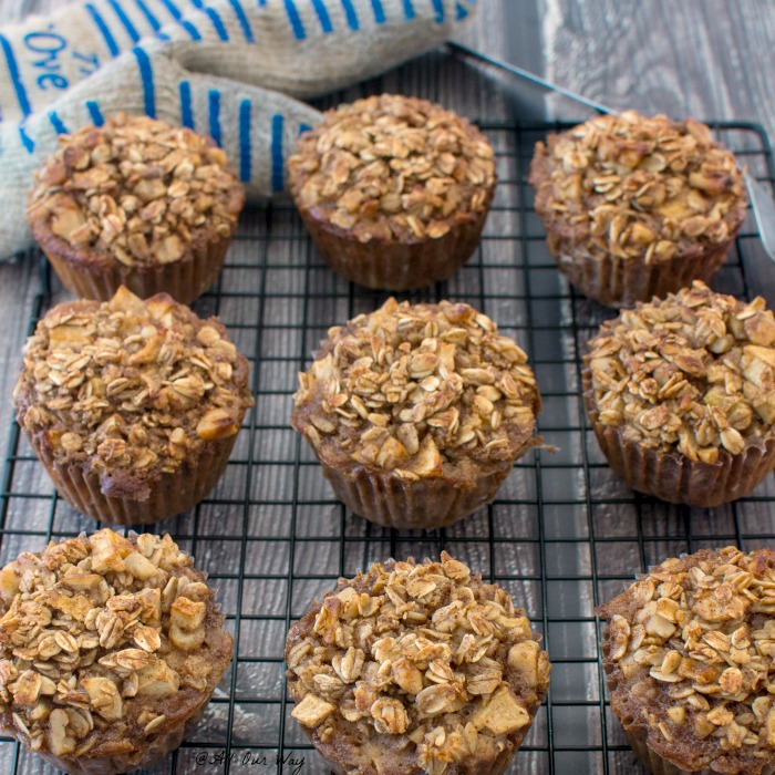 Nutritious Apple Cinnamon Breakfast Oatmeal Muffins