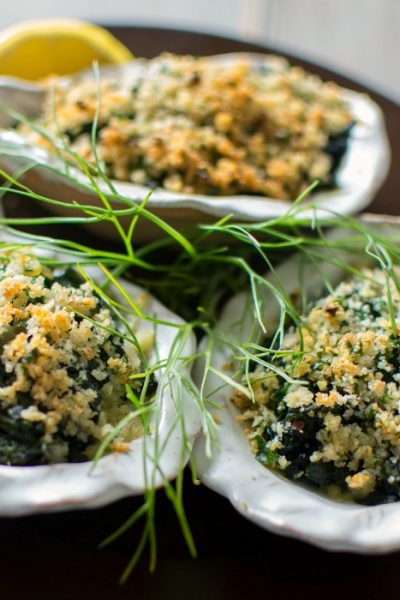Oysters Rockefeller Italian Style is an easy elegant appetizer @allourway.com