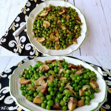 Italian peas with Mushrooms is our special family Easter tradition.