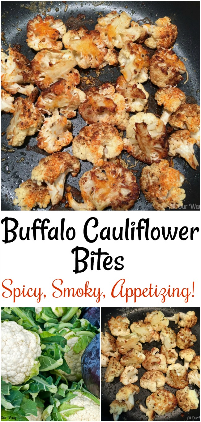 Buffalo Cauliflower Bites are spicy, smoky, appetizing and irresistible. They make a great appetizer or a delicious vegetable side.