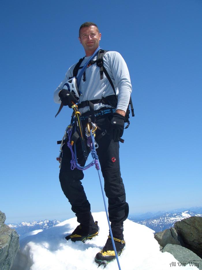 Jason's mountain climb at Shuksan .
