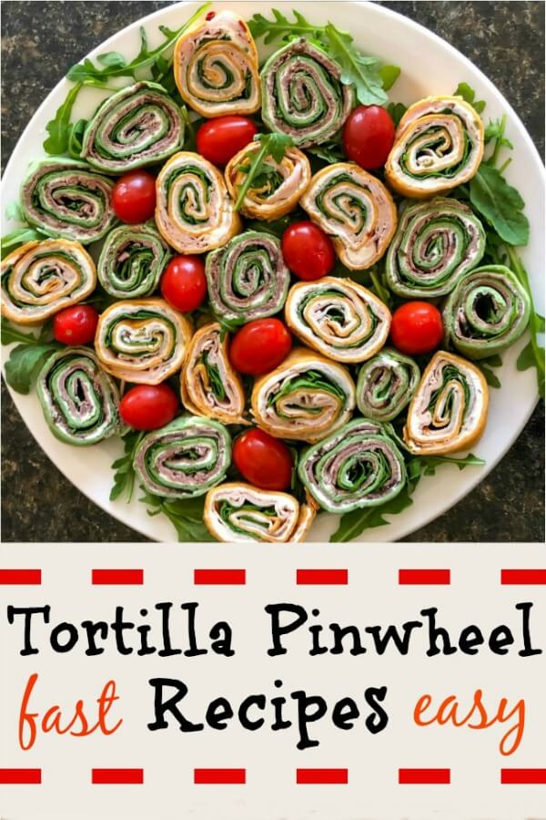 Tortilla pinwheel recipes are easy and the variations are endless. Just put them on a fancy plate - no-one will know how fast and easy they were to put together. They can also be little bite size sandwiches for a tea. Great for snacks on a football watching afternoon or evening. #appetizer, #pinwheelappetizer, #tortillaappetizer, #easyappetizers, #makeaheadappetizers, #tortillasnacks, #pinwheelsnacks, #creamcheesepinwheels,#partypinwheels, #creamcheesetortillas, #allourway