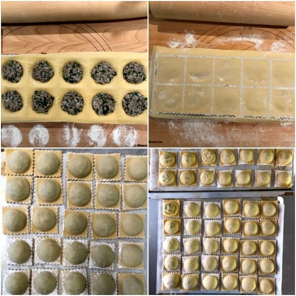 Lamb Ravioli collage instructions from 9-12.