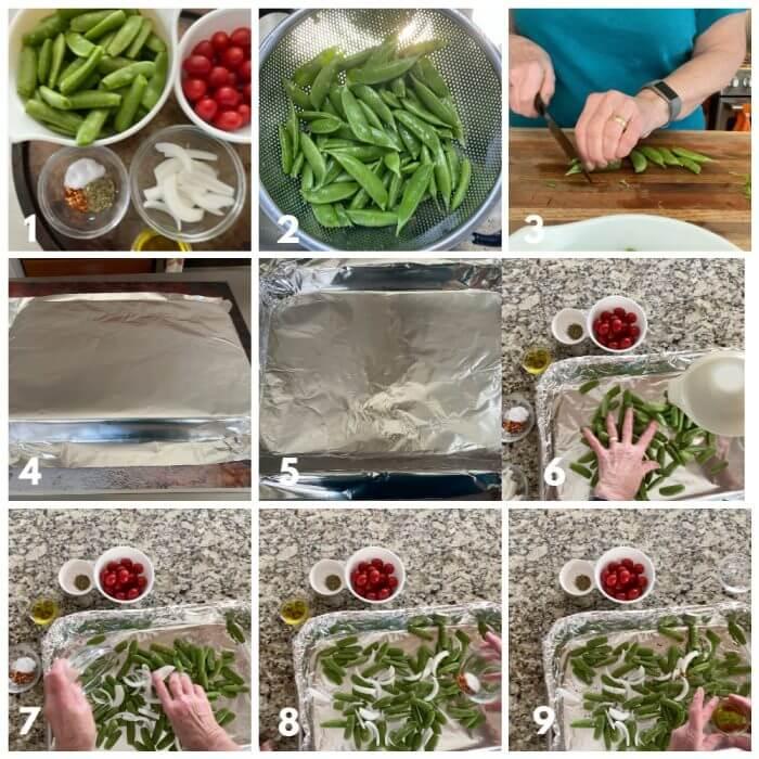 Sugar Snap Peas Process Shots 1-9